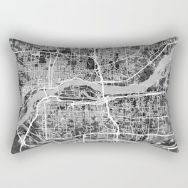 Quad Cities Street Map Rectangular Pillow
