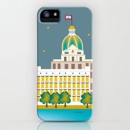Savannah, Georgia - Skyline Illustration by Loose Petals iPhone Case