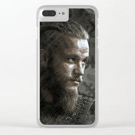 Ragnar Lodbrok - Vikings Clear iPhone Case
