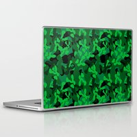 camouflage Laptop & iPad Skins featuring Camouflage (Green) by 10813 Apparel