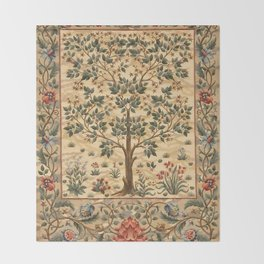 "William Morris ""Tree of life"" 3. Throw Blanket"