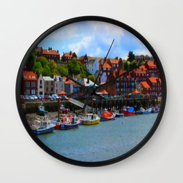Whitby by the Sea Wall Clock
