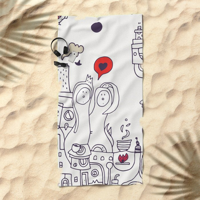 Time for Love Beach Towel