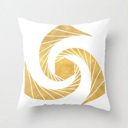 GOLDEN MEAN SACRED GEOMETRIC CIRCLE Throw Pillow