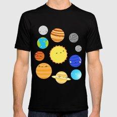 The Solar System MEDIUM Black Mens Fitted Tee