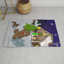 Gingerbread Christmas Rug