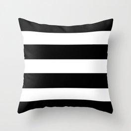 Mariniere marinière black and white Throw Pillow
