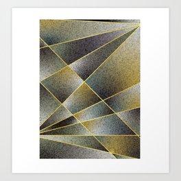 GREY TO YELLOW Art Print