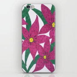 Ultra Violet Lily Bouquet iPhone Skin