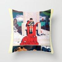 manga Throw Pillows featuring Manga 05 by Zuno