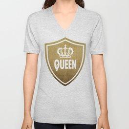 Queen & King (For Her & For Him) Unisex V-Neck