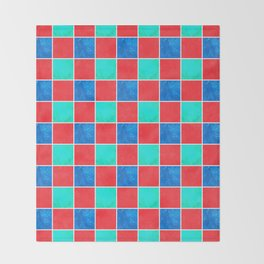 Playful Checkers Throw Blanket