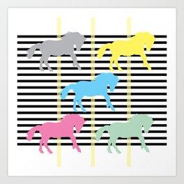 Carousel Horse 03 Art Print