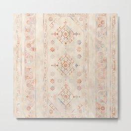 Boho Chic Pastel Distressed Carpet Metal Print