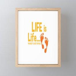 Christian Life Is Life Pro Life Gift Print Anti Abortion Tee Framed Mini Art Print