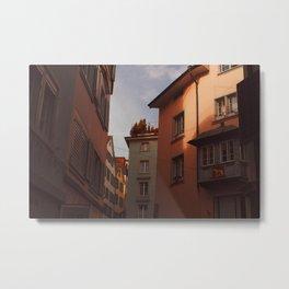Zurich Alley VI Metal Print