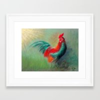 cock Framed Art Prints featuring Cock by ReniART