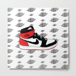 Jordan 1 Black Toe Metal Print