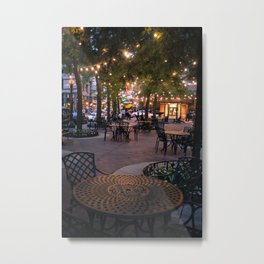 Patio with Fairy Lights Metal Print
