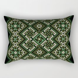 solar stamp / rhythm life. Divinely psychedelic ornament Rectangular Pillow