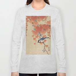 Ohara Koson - Japanese Bird Blockprint Long Sleeve T-shirt