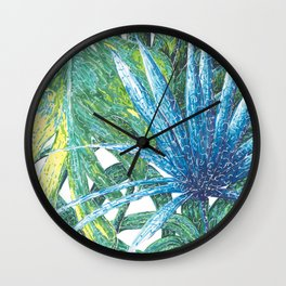 Philodendron & Flora Wall Clock