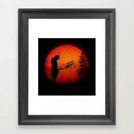 My Love Japan / Samurai warrior Framed Art Print