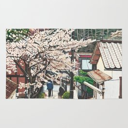 Passing by Cherry Blossoms Rug