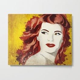 Rita Hayworth Metal Print