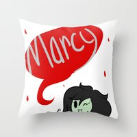marceline Throw Pillows featuring Marceline by dartty