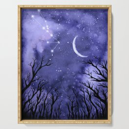 Starry Night and Moon #3 Serving Tray