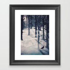 the raven who stole my heart Framed Art Print