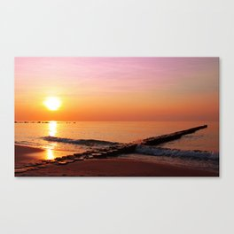 Late at the ocean, Germany Canvas Print