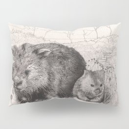 Path to wombat pool Pillow Sham