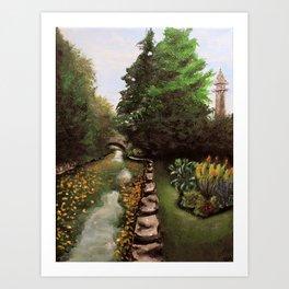 Shakespeare Gardens - Acrylic on Canvas Art Print