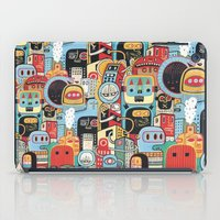 arctic monkeys iPad Cases featuring Two monkeys in town by Exit Man