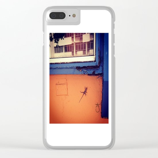 Lizard in Puerto Rico Clear iPhone Case