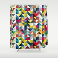 book cover Shower Curtains featuring 100 book cover colours by Coralie Bickford-Smith