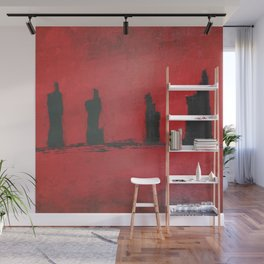 Red Sunset Wall Mural