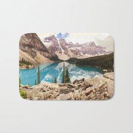Moraine Lake III Banff Summer Mountain Reflection Bath Mat