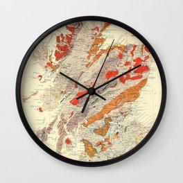 Vintage Scotland Geological Map (1865) Wall Clock