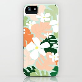 Tropical Blooms iPhone Case