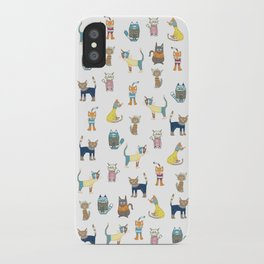 Cats in sweaters iPhone Case