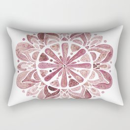 Watercolor Mandala III burgundy Rectangular Pillow