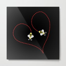 Bee My Heart Metal Print