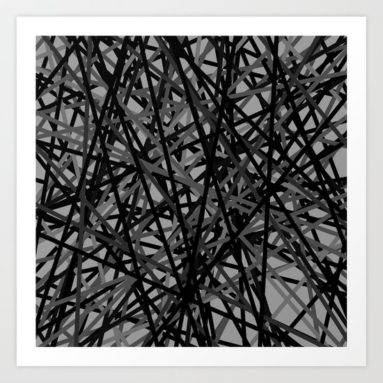 Kerplunk Extended Black and White Art Print