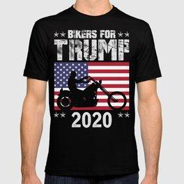 Bikers For Trump 2020 T-Shirt Donald Trump Tee T-shirt