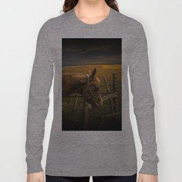 Saddle Horse on the Prairie Long Sleeve T-shirt