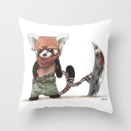 Panda Roux Barbare Throw Pillow