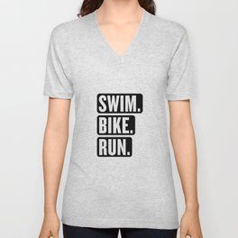 Swim Bike Run Block 1 Unisex V-Neck